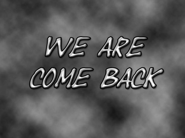 Stiamo tornando!